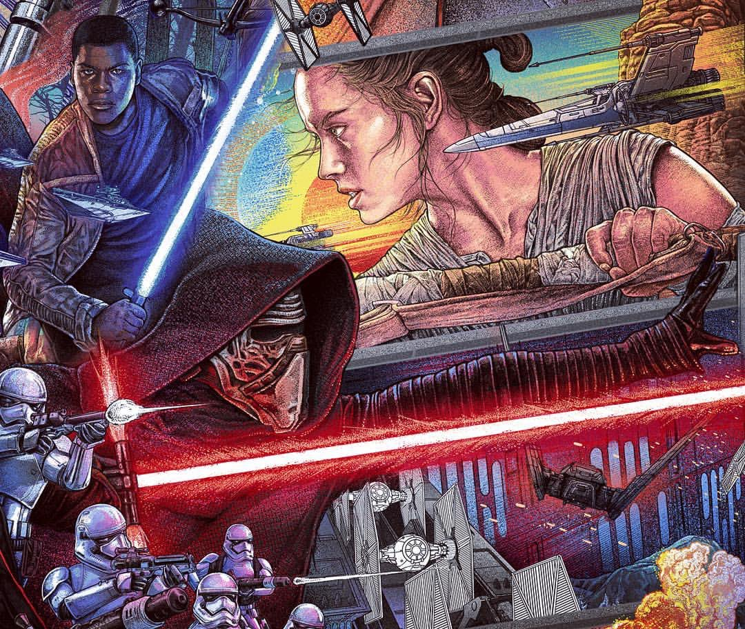The Force Awakens print by Ise Ananphada numbered Star Wars