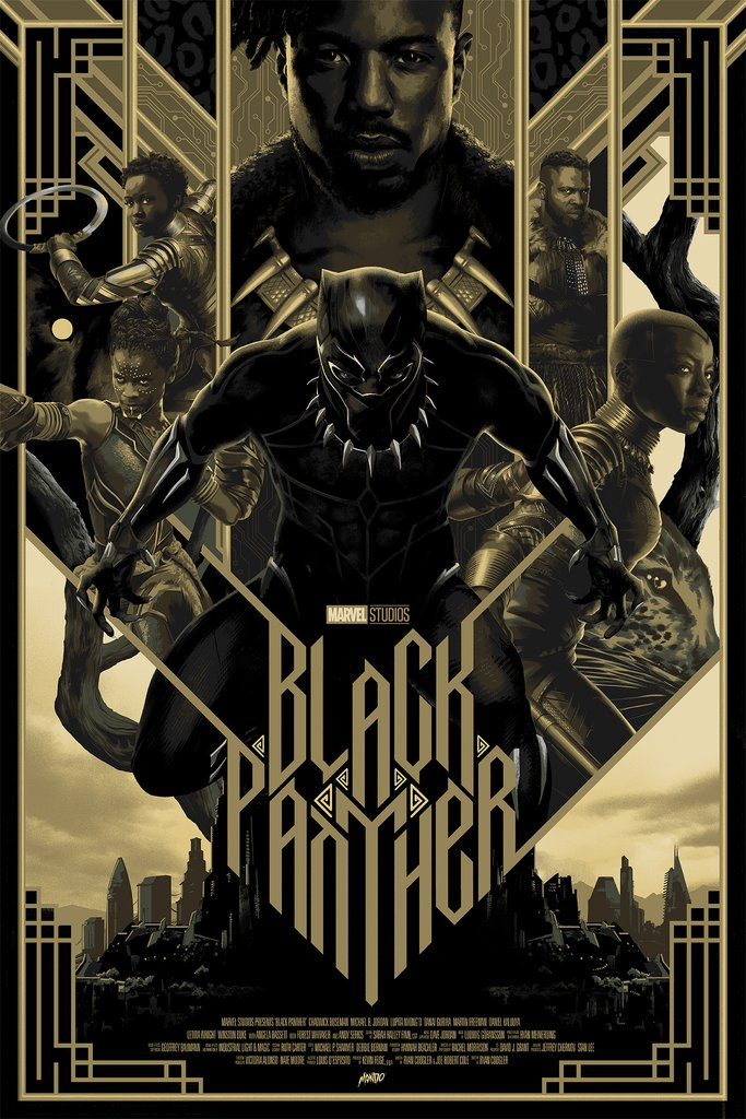 Black Panther Movie Poster Film Photo Print Picture