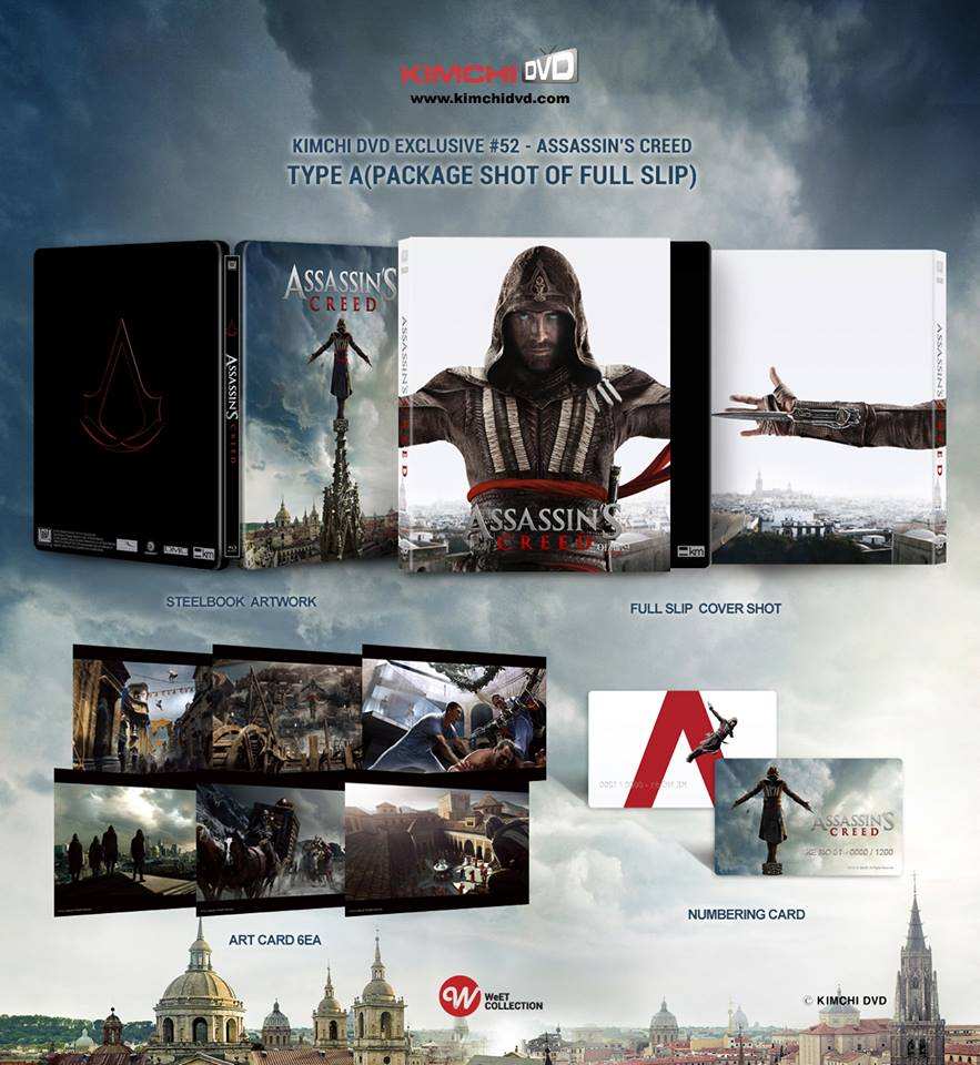 Assassin S Creed 3d 2d Blu Ray Steelbook Kimchidvd Exclusive No