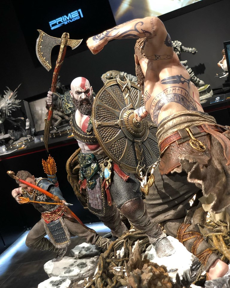 Kratos Atreus God Of War Statue Prime 1 Studio Hi