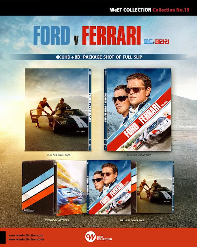 Ford V Ferrari 4k 2d Blu Ray Steelbook Weet Collection No 19 Korea Hi Def Ninja Pop Culture Movie Collectible Community