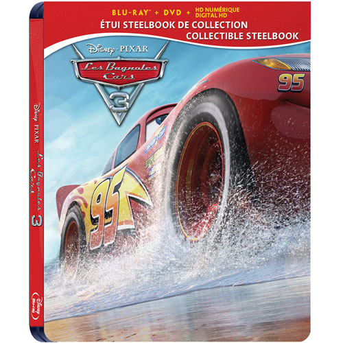 cars 3 blu ray steelbook best buy exclusive canada. Black Bedroom Furniture Sets. Home Design Ideas