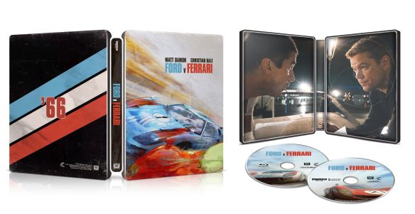 Ford V Ferrari 4k 2d Blu Ray Steelbook Best Buy Exclusive Usa