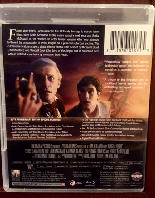 Fright Night (Limited 30th Anniversary Blu-ray Release)-Qty