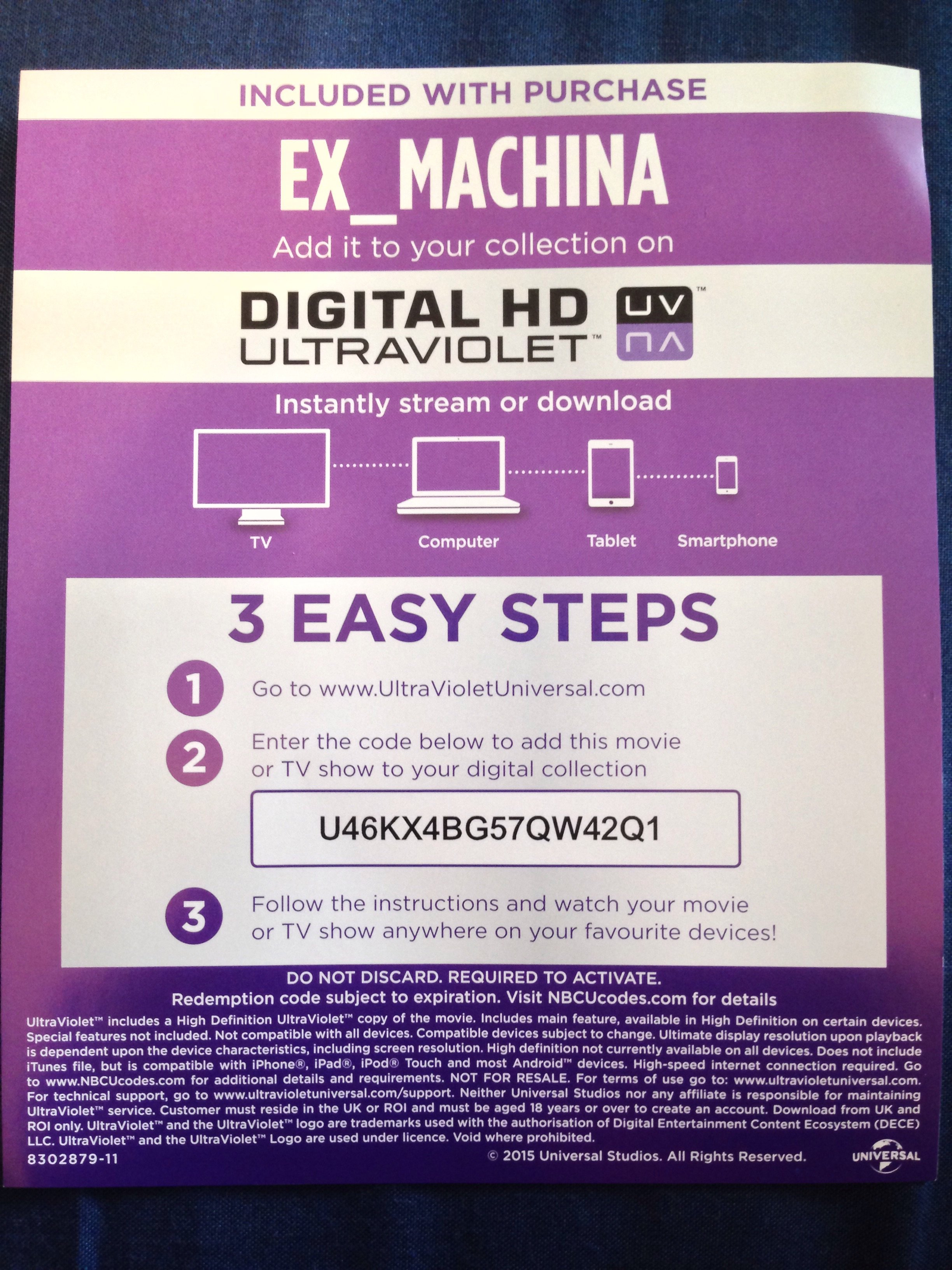 Ex Machina UV code giveaway | Hi-Def Ninja - Pop Culture - Movie