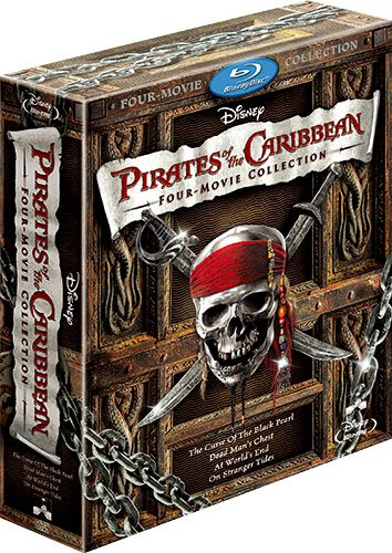 Pirates Of The Caribbean 10th Anniversary Edition Four Film Box
