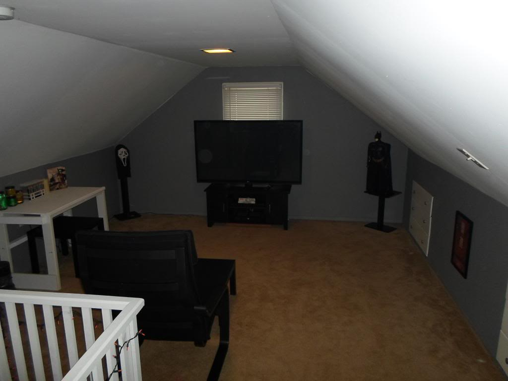 Man Cave Attic : Basement man cave attic traditional with storage
