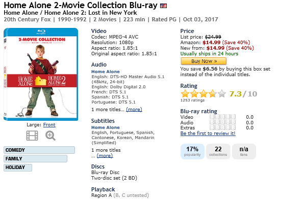 Home Alone Home Alone 2 Blu Ray Steelbook Best Buy Exclusive
