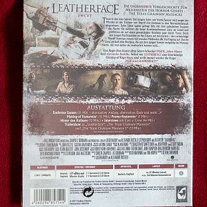 Leatherface - Uncut Digibook (Müller Exclusive) - Back