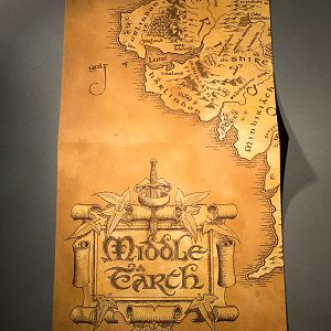 Inlay: Fragment of Middle-Earth Map