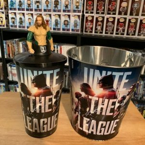 Justice League Popcorn Tin and Cup with Cup Topper