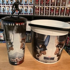 Captain America Civil War Popcorn Buck and Cup with Cup Topper