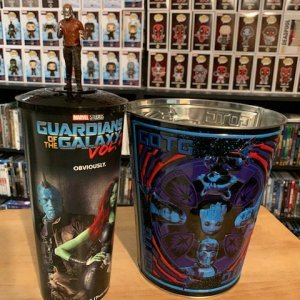 Guardians of the Galaxy Popcorn Tin and Cup with Topper