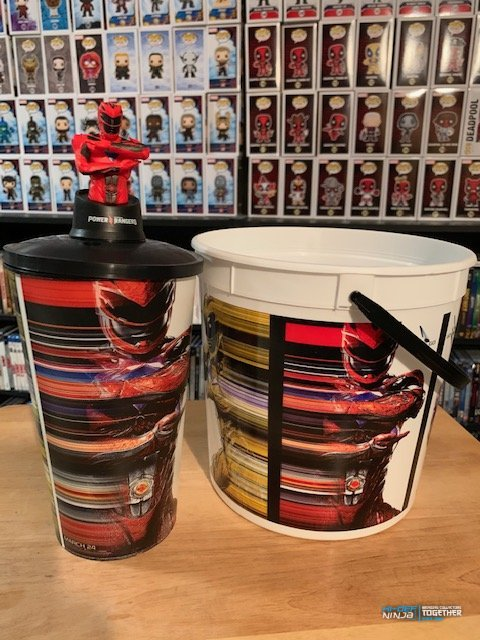 Power Rangers Popcorn Bucket and Cup with Topper