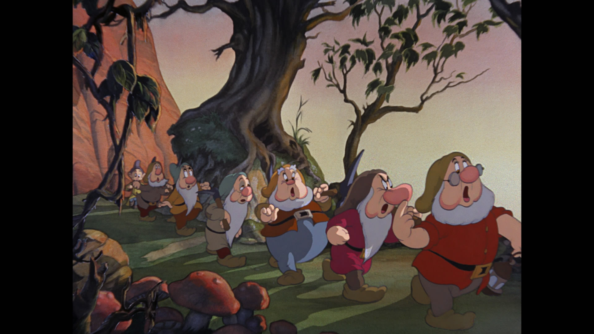 snow white and the seven dwarfs - HD 1367×1000