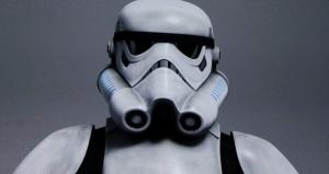 Close up of a Storm Trooper