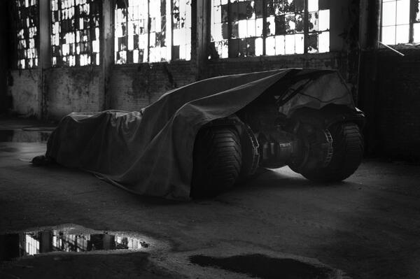 Batmobile teaser photo