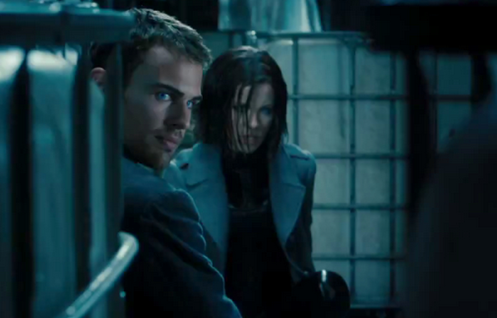 Theo James is in, Kate Beckinsale is out.