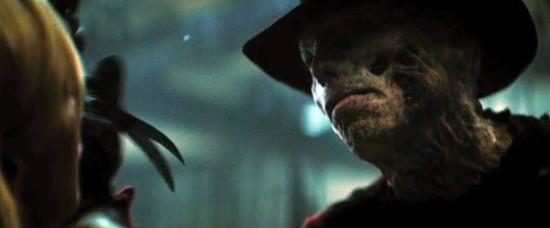 Jackie Earle Haley as Freddy Krueger in the extremely dark and humorless reboot of A NIGHTMARE ON ELM STREET.