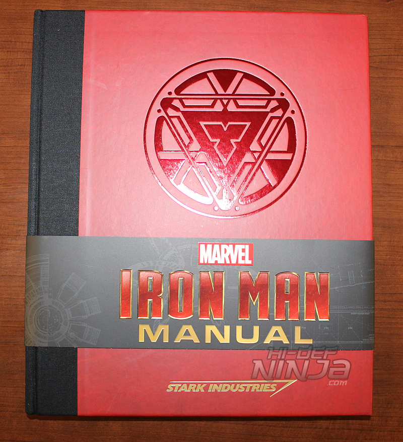 Iron man manual an inside look hi def ninja blu ray steelbooks the iron man manual is a very cool book that really comes to life as you read or browse through it its a nicely made hardcover book with logos on the colourmoves