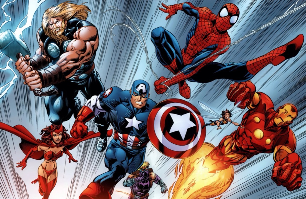 Анимация мультфильмы, картинка с супергероями марвел