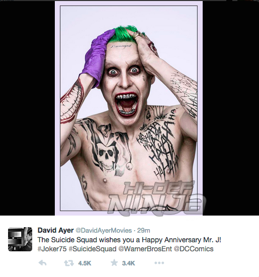 david ayer joker tweet