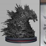 MONDO Godzilla Statue 3