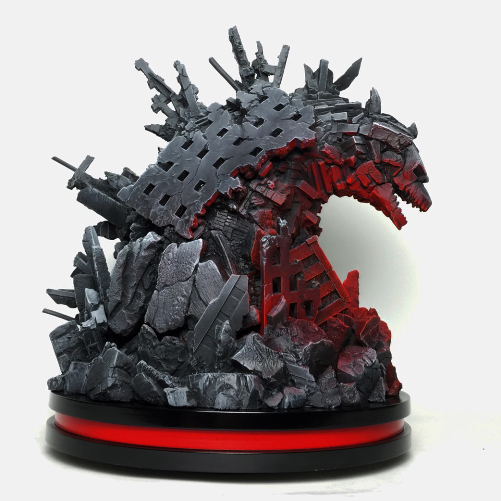 MONDO Godzilla statue 2