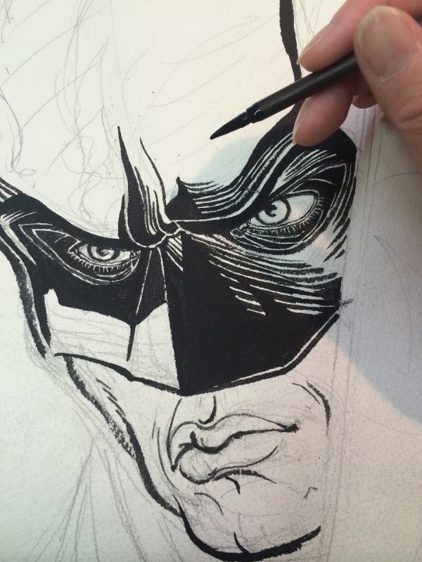 Detail closeup: Batman