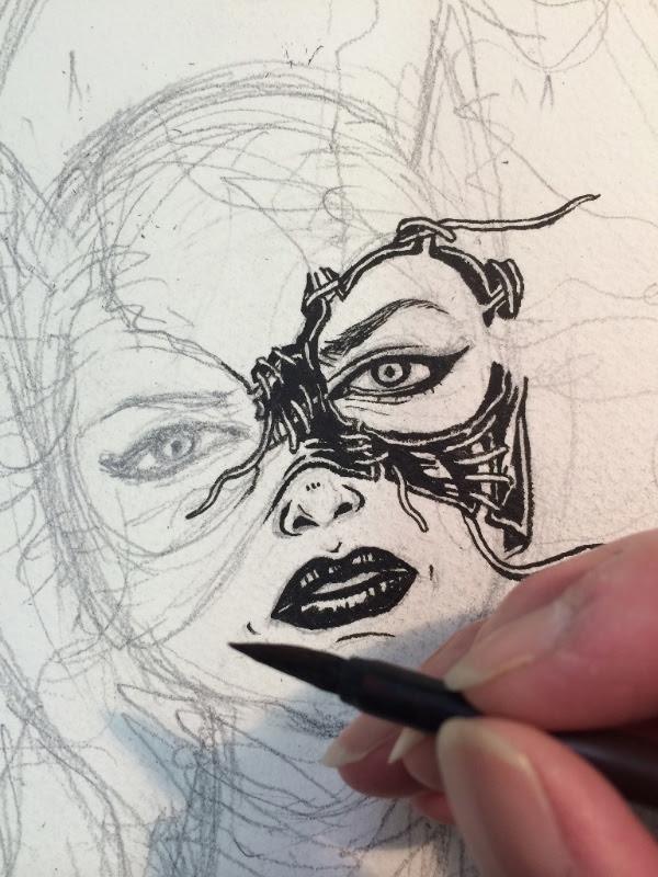 Detail closeup: Catwoman