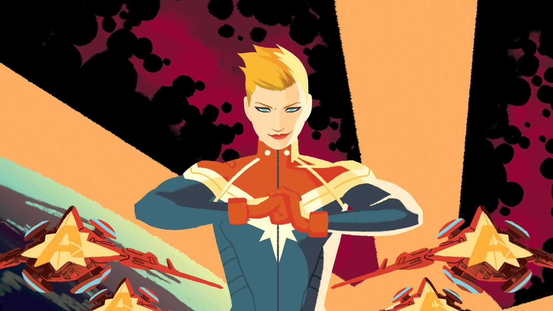 captain marvel comics banner