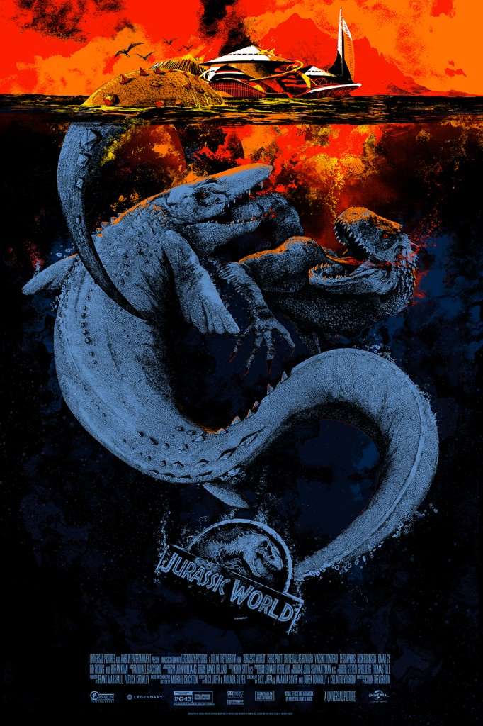 mondo SDCC Jurassic world poster