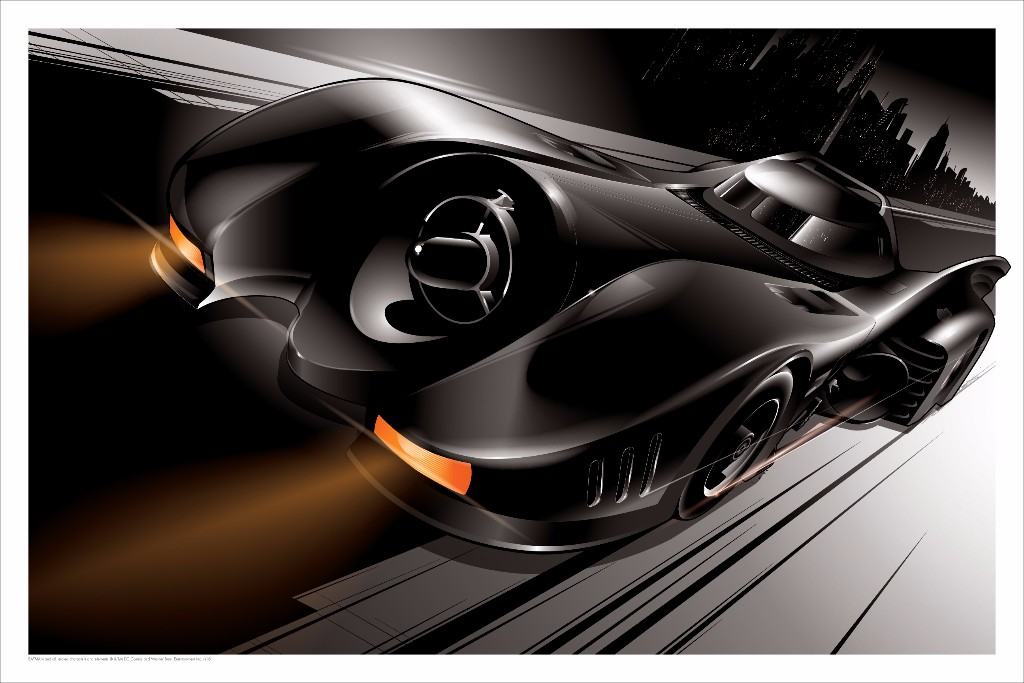 mondo SDCC batmobile poster