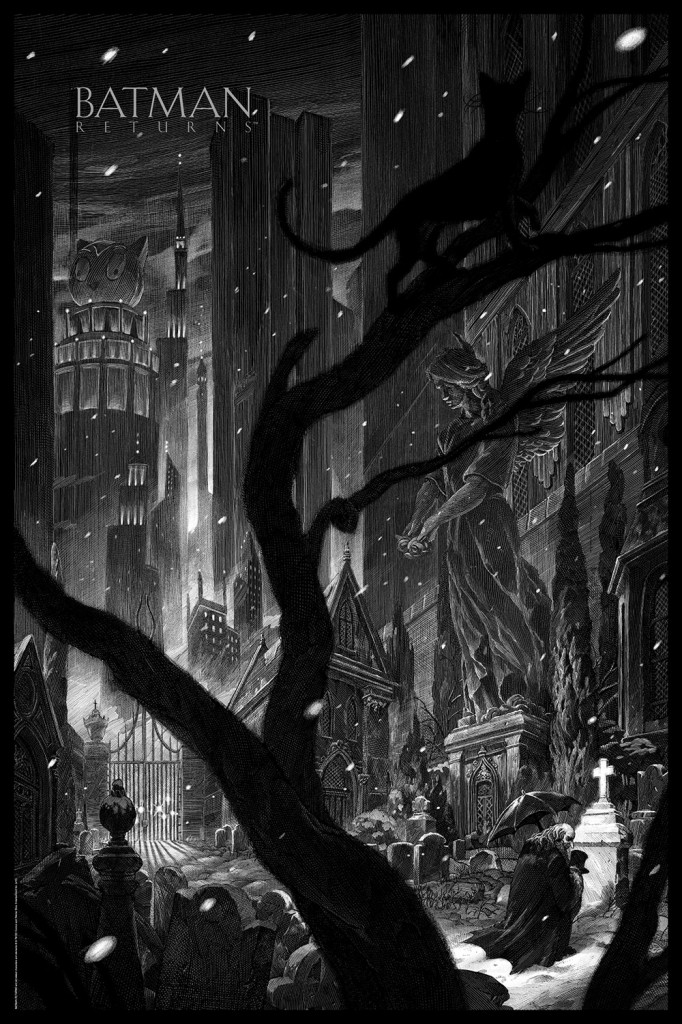 mondo sdcc Batman returns poster