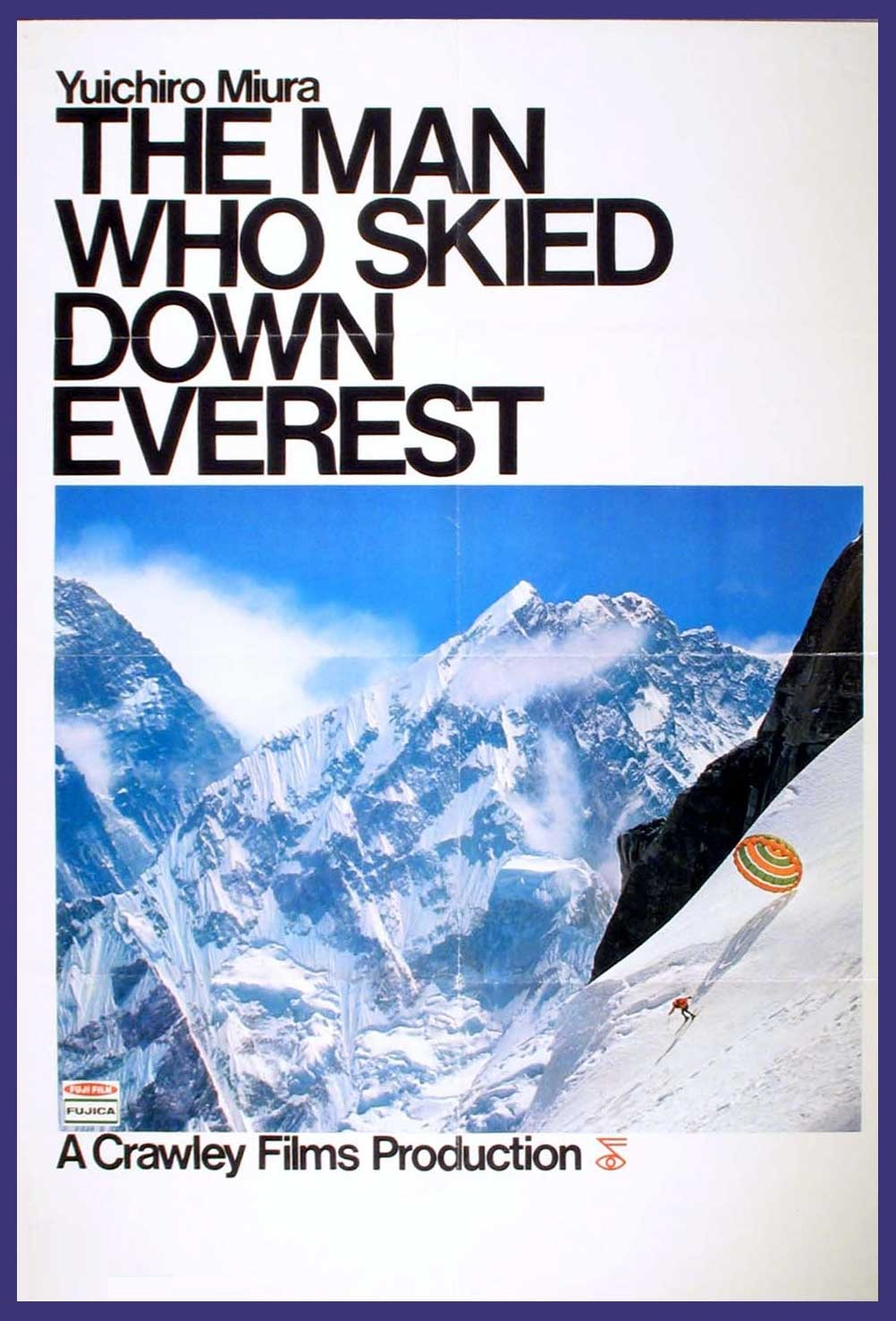 the man who skied down everest poster
