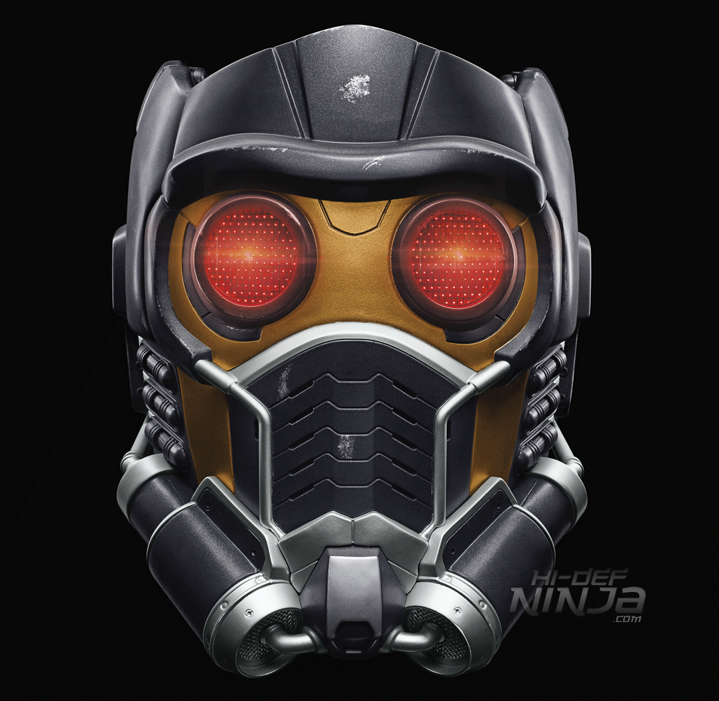 MARVEL LEGENDS SERIES STAR-LORD ELECTRONIC HELMET (1) - Black Background