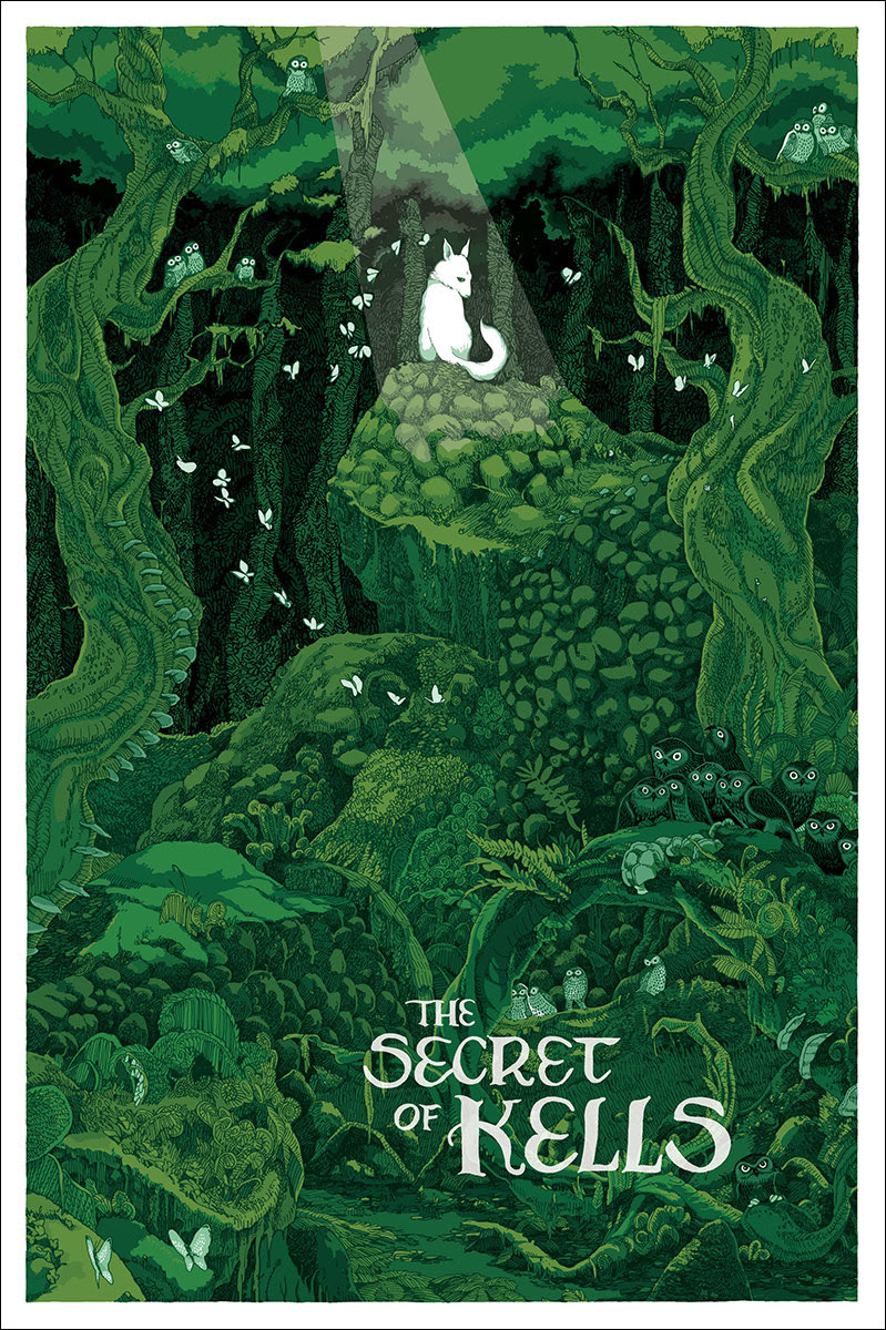 secret of kells mondo poster