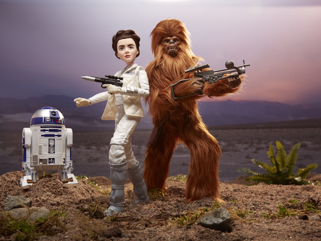 Star Wars Forces of Destiny 11-Inch Adventure Figure Assortment - Princess Leia, Chewbacca, R2-D2