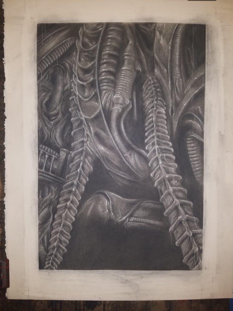 Aliens Original Charcoal