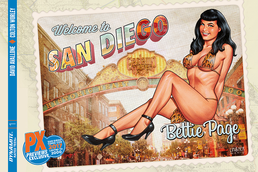 SDCC Bettie Page #1 Cover