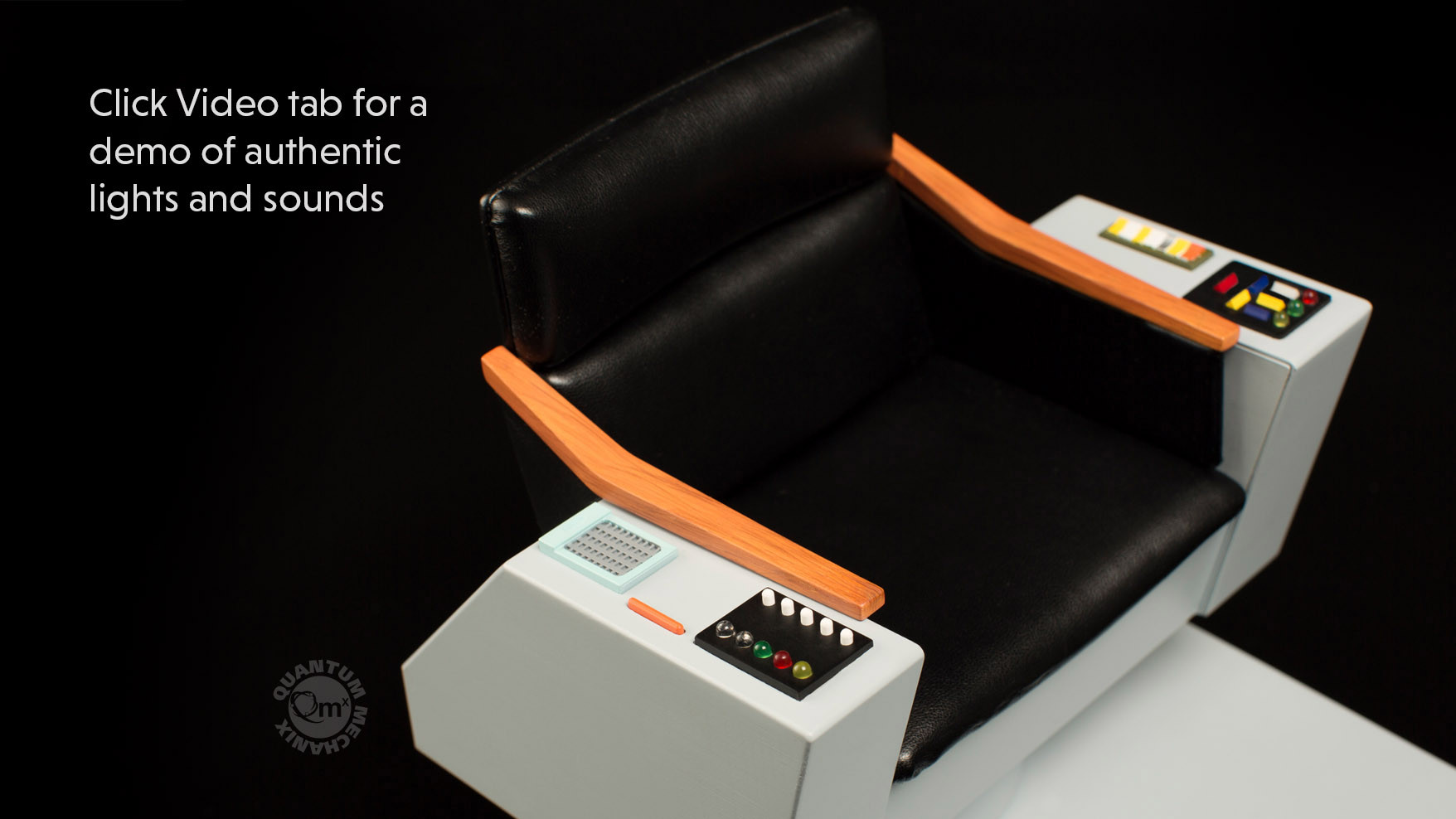 QMx is releasing the Captain Kirk's bridge chair from STAR