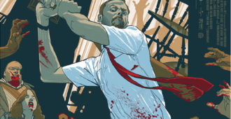 shaun of the dead mondo poster-rich kelly banner