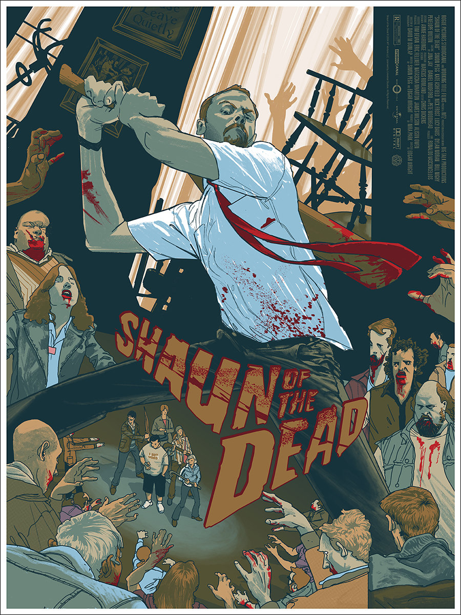 shaun of the dead mondo poster-rich kelly