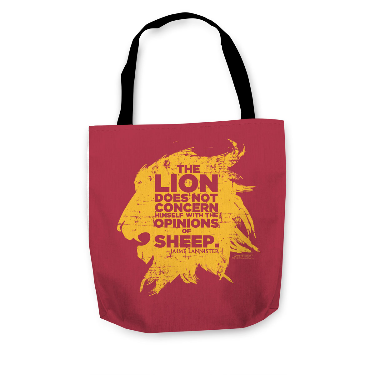 A Lion Does Not Concern Himself with the Opinions of Sheep Tote
