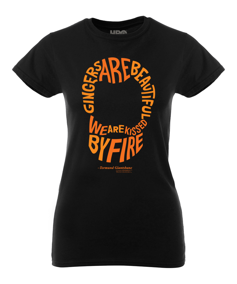 Gingers Are Beautiful We Are Kissed By Fire Womens Tee