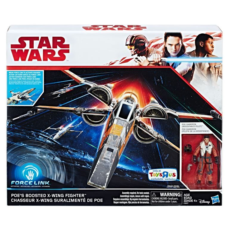 Star Wars Force Link 3.75-Inch Boosted X-Wing and Figure