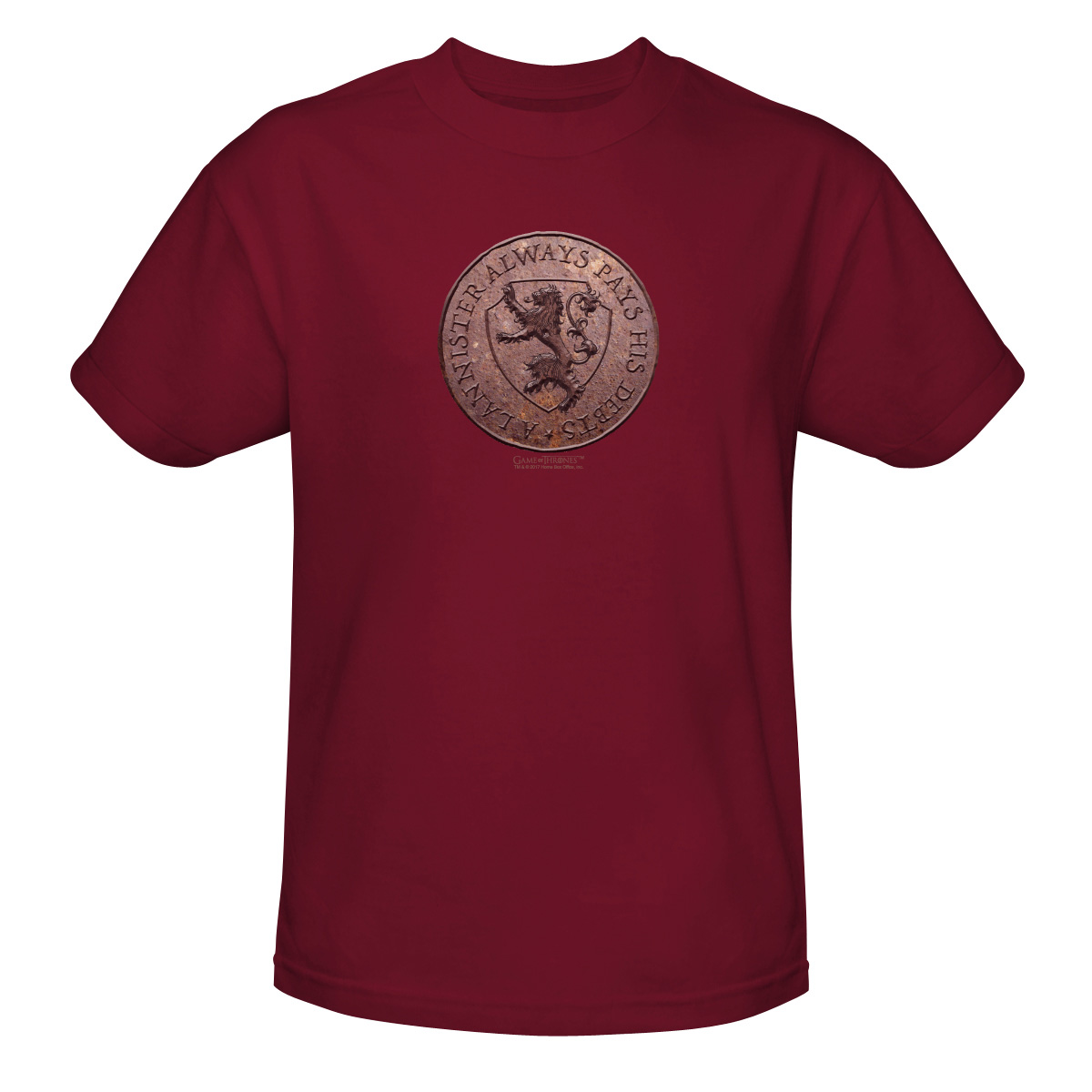 US - HBO876-PSF got_lannister_coin_trev_mens_sf_cardinal