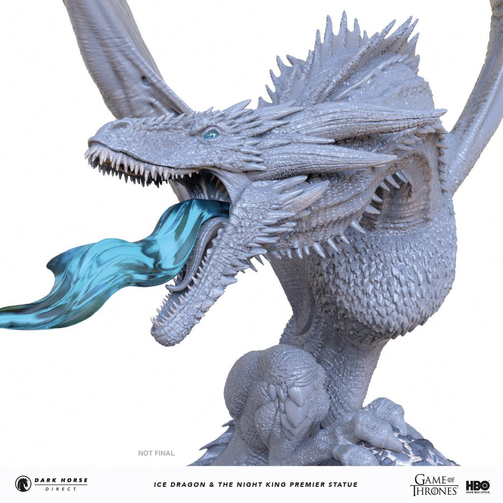 Statuette Night King: Direct Game Of Thrones: Ice Dragon & The
